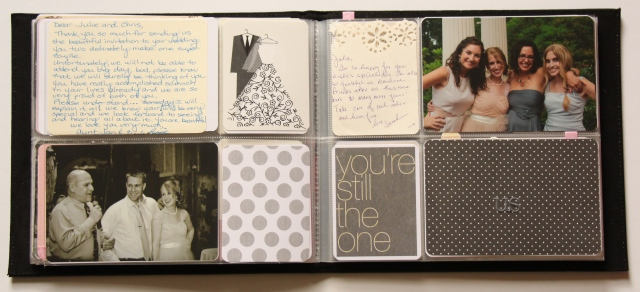 Project Life mini album: Wedding Guest Book