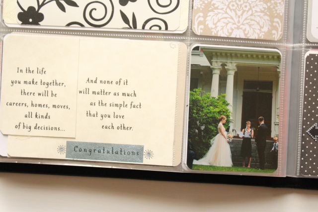 Using Store Bought Cards in your wedding guest book