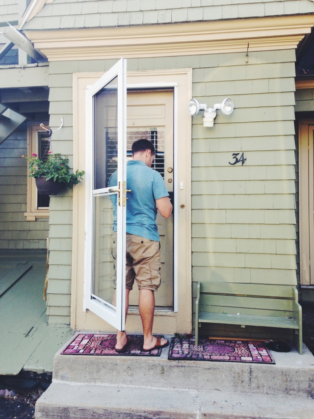 The moment we opened the door to our first house