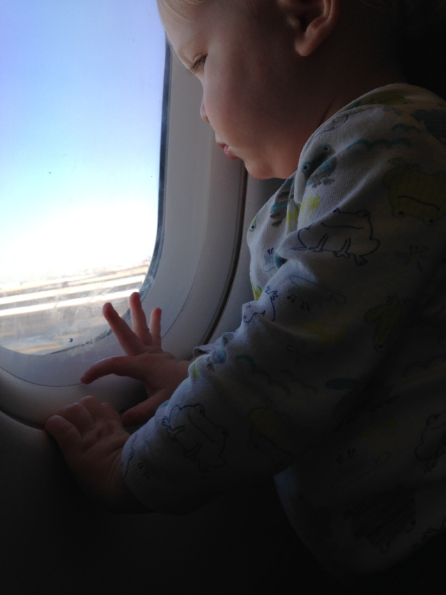 my first flight with a toddler