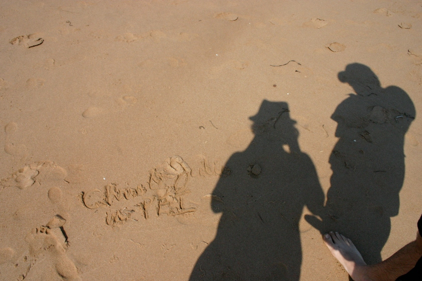 Chris + Julie at the red sand beaches of PEI