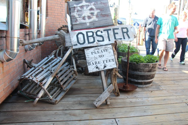 Seaside dining in Bar Harbor, Maine