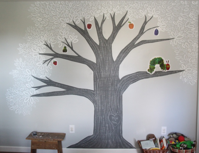 Painting a Chalkboard Tree Step 11: DRAW!