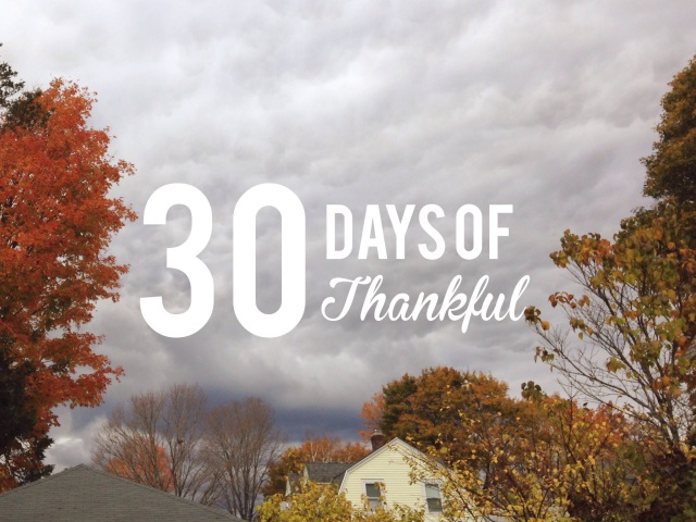 30 Days of Thankful: A Gratitude Project