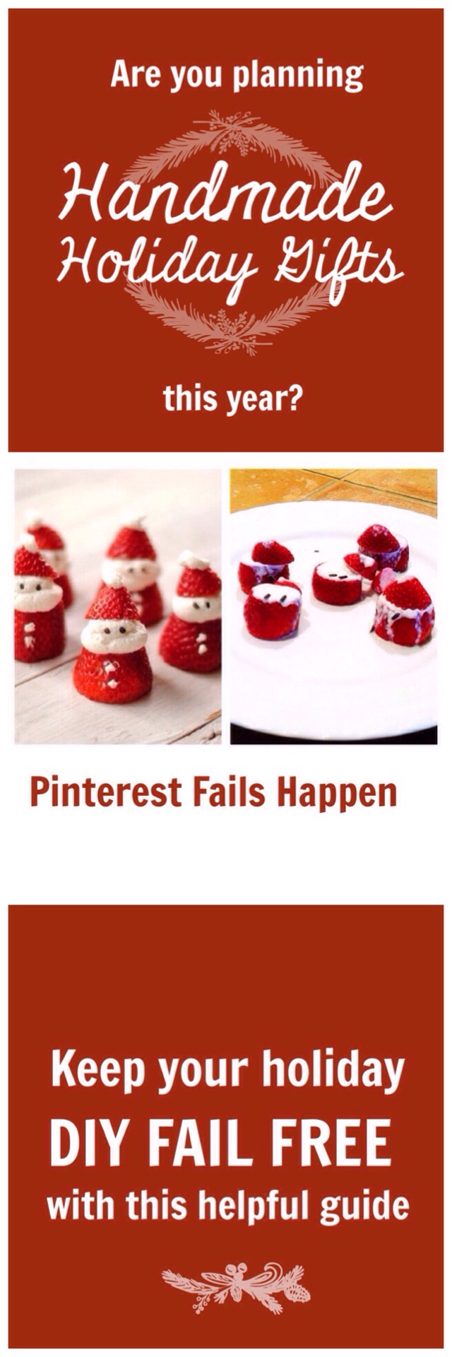 pinterest fails happen: avoid handmade holiday gift fails with these helpful tips