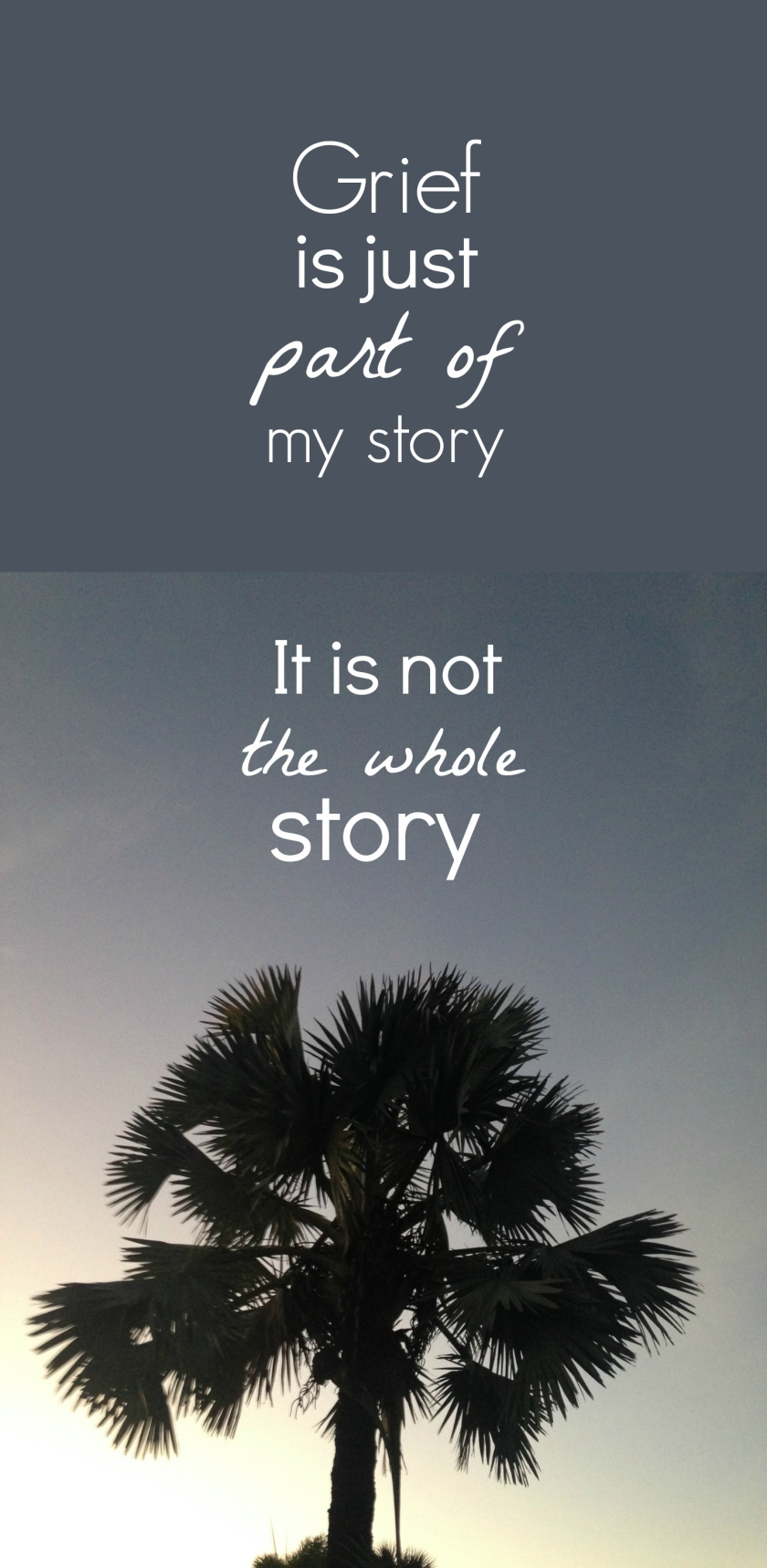 Grief is just part of my story - it is not my whole story | How I Sustain Blog